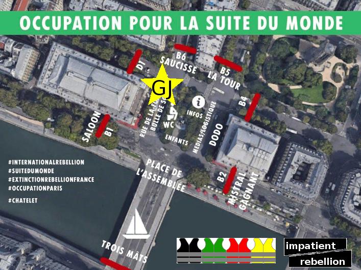 Les Gilets Jaunes Au Rond Point De Châtelet Paris Luttes