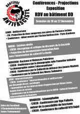 Semaine antifasciste du 18 au 22novembre à la fac de Nanterre